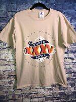 VTG Super Bowl XXXV T Shirt 2001 Tampa Florida NFL Size Large Free Shipping Look