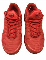 Nike Air Max Plus GS Triple Red Shoes (CQ9748-600) Size 4Y