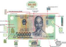 1 MILLION in VIET NAM DONG MONEY (VND) - (2) 500,000 Banknotes - FAST DELIVERY