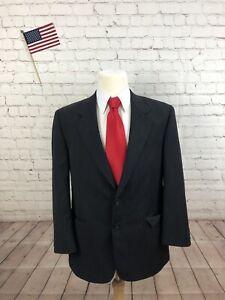 Patrick James Men's Gray Two Button Blazer Sport Coat Suit Jacket 42R