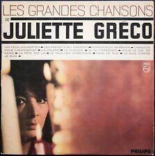 JULIETTE GRECO LES GRANDES CHANSONS 33T LP BIEM PHILIPS 77.949 MONO
