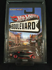 2012 Hot Wheels Boulevard Legends Austin Healey Black Real Riders w/ PROTECTO