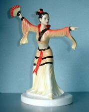 Royal Doulton Chinese Fan Dance(r) Figurine SIGNED by Michael Doulton HN5568 New