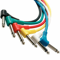 Pack of six different colors,1 foot Guitar instrument Patch Cables (Right Angle)