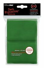 Ultra Pro 100 Buste Deck Protector Sleeves Verde cartolina formato Standard