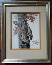 "World Renowned Artist Lee Adams ""Fox Squirrel with Turkey Oak"" Signed Art Print"