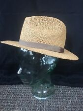 Vintage Chapeaux straw hat. Wide brim, army green tie around! Classic!