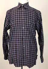 Ermenegildo Zegna Plaid Check Casual Button Front Shirt Made In Italy Men's L A1