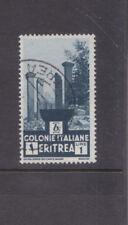 ERITREA-1933-ITALIAN COLONY-1 LIRE-RUINS AT CHOLLOE-BLUE-SG 205-F/U-$5-freepost