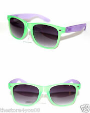 Wayfarer Sunglasses Rubber touch flat matte frame Green Purple Retro 80s  55