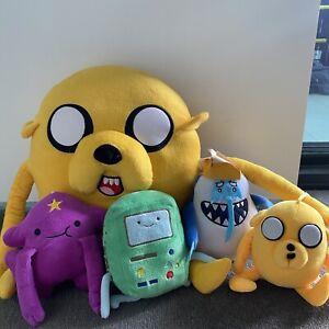 Adventure Time Plush Soft Toys Bulk Lot x5: Jake, Princess Lumpy, BMO, Ice King