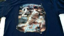 Derek Jeter 20th And Final Season 2014 2XL Tee Delta Pro Weight NYY Double Sided