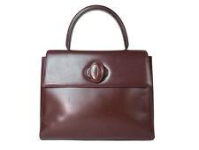 Auth CARTIER Cartier Must De Vintage Bordeaux Hand Bag CS10023L