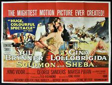 SOLOMON AND SHEBA 1959 - Yul Brynner, Gina Lollobrigida UK QUAD POSTER - SHIMIN