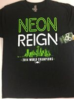 Neon Reign T-Shirt Mens SZ M/L NFL Football 2014 World Champs Seattle Seahawks