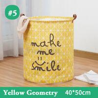 US Laundry Hamper Basket Sorter Wash Clothes Storage Foldable Bag Bin Organizer