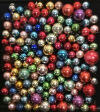 Lot 135 Vintage MERCURY GLASS Feather Tree Christmas Ornaments Metal Hangers