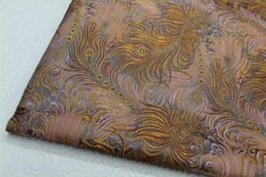 Faux Silk Brocade(Peacock Feather)Jacquard Damask Kimono Fabric Material*Bn4