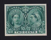 Canada Sc #52P (1897) 2c green Diamond Jubilee Plate Proof VF