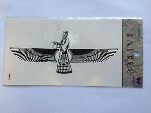 Farvahar temporary Tatto X3, Iranian Persian Zoroastrian symbol of good