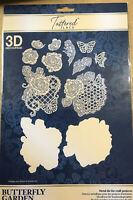 XL Tattered Lace Butterfly Garden Metal Cutting Die 501930 Card Topper Die