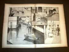 Stampa enorme Moda e costume a Venezia nel 1881 Impressioni di Augusto Foli