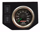 Dual Needle Air Gauge Panel 2 Rocker Switch Control 200 Psi Air Ride Suspension