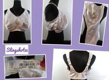 """""""44DD"""" *Just My Size 1979* White Floral Seamed Unlined Wire Free Minimizer Bra"""