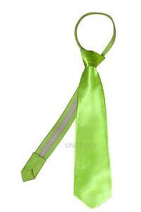 23 Color Satin Zipper Necktie for Baby Toddler Kid Teen Boy Suit size S-XL(S-20)