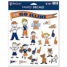 Illinois Fighting Illini Family Sticker Set Decals