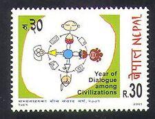 Il Nepal 2001 ONU / Anno del dialogo / animazione / CARTOON IV (n37201)
