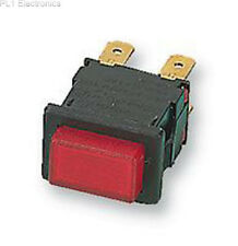 ARCOLECTRIC SWITCHES - H8353ABBLK/RED - SWITCH, DPST, RED ILLUM