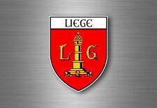 Sticker decal souvenir car coat of arms shield city flag liege belgium