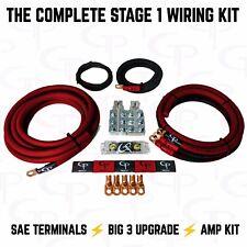 1/0 AWG GAUGE OFHC AMP WIRING KIT STAGE 1 GP CAR AUDIO RED BLACK