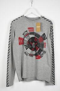 Desigual TS-BITRIO Homme M Imprimé Abstrait Manches Longues T-Shirt 11011 MM