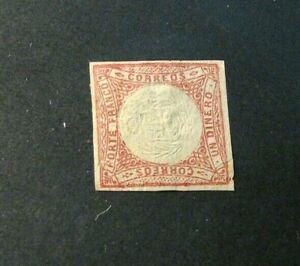 Peru Stamp Scott# 12 Coat of Arms 1862-63 MNG H39