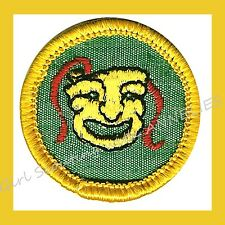 PLAYER PRODUCER Cadette Girl Scout NEW Badge Patch Comedy Tragedy Mask Combine