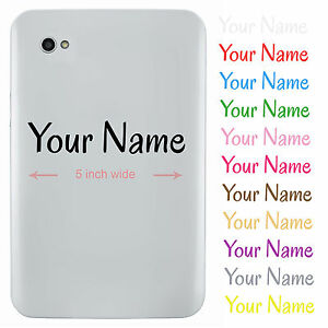 Personalised Name Sticker for Tablet or iPad - Custom Vinyl Decal