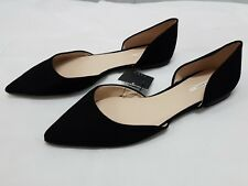 ZARA Black Pointy Ballerina Flat Court Shoes Sandals UK 5 Euro 38