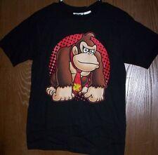 Super Mario DONKEY KONG Shirt Boy's size 10/12 NeW Black s/s Top Nintendo NWT