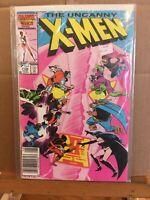 The Uncanny X-Men #208, Newsstand, Hellfire Club, Wolverine, VF+