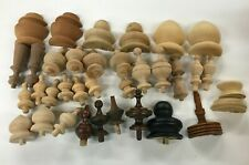 Large Group Of Wooden Finials For Tops Of Clock Cases, Unfinished !!!!!!!!