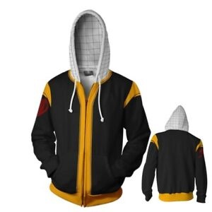 Men cartoon Anime FAIRY TAIL Zipper Sweatshirts Hooded Jackets Clothes coat
