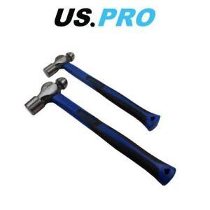 US PRO 2pc Ball Pein Hammers Set 16 & 32oz TPR Handle 3375