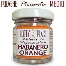 HABANERO ORANGE Polvere Peperoncino Piccante MEDIO ottimo sapore 10g vaso