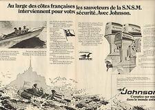 Publicité 1977  (Double page)   Moteurs de bateaux  JOHNSON