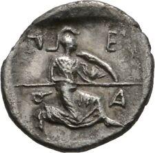 LANZ Greek Thessalle Perrhaiboi Obol ATHENA ITONIA spear horse Silver ± tez1502