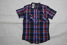 SHOUT HOUSE HOT TOPIC RETRO CHECKED COLOURED SHIRT XS BNWT FRONT BUTTON POCKETS