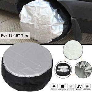 "Waterproof Universal 13-19"" Car SUV Wheel Bag Tire Tyre Spare Storage Cover"