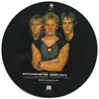 "EX/EX The Police Wrapped Around Your Finger 7"" VINYL 45 Picture Pic Disc Sting"